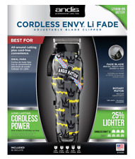 Andis Nation Cordless Envy Li Fade Adjustable Blade Hair Clipper 73095 Barber
