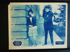 1928 A JIM JAM JANITOR - LOBBY CARD -MAN IN DRAG IS CONFRONTED BY A COP - SILENT