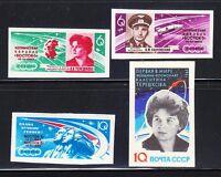 Russia 1963 MNH Sc 2748-2753 IMPERF Space flights of V.Bykovski & V.Tereshkova**