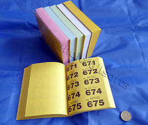 RAFFLE TICKETS BOOK Cloakroom Tombola Draw Security Coded Numbered 1-500 1-1000