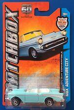 2013 Matchbox 1957 CHEVROLET BEL AIR CONVERTIBLE mint on long card!