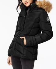 bff72cc1a7d Madden Girl Juniors Faux-Fur-Trim Waterproof Puffer Coat Black Size M NEW   65