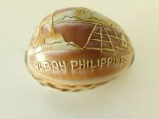 Hand Carved Conch Sea Shell Of 1915 Mayon Volcano Albay Philippines