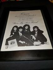 Queen You're My Best Friend Rare Original Promo Poster Ad Framed!