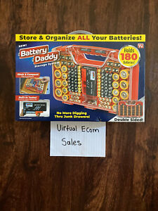 BATTERY DADDY DELUXE 180 Battery Organizer and Storage Case with Tester