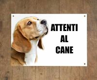 BEAGLE attenti al cane mod 3 TARGA cartello IN METALLO