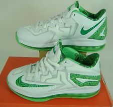 New 7Y 7 Youth Nike Lebron Xi Low Gs White Shoes $135 644534-100 Womens 8.5