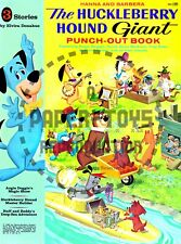 Vintage Reprint -1960 - Huckleberry Hound Giant Punch-Out Book - Reproduction