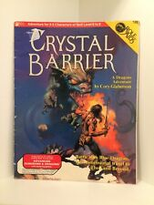 Role Aids: Crystal Barrier, Advanced Dungeons & Dragons. (AD&D), RPG