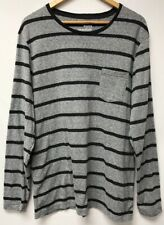 Old Navy Mens Size XL Shirt Striped Gray Black