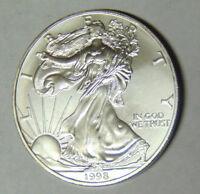 1998 American Silver Eagle 1 oz .999 Fine Silver Dollar