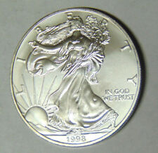 1998 American Silver Eagle Uncirculated .999 Silver Dollar 1 oz BU Coin (82617)