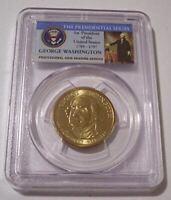 PCGS 2007 Washington Presidential Dollar Error Missing Edge Lettering MS65 Port*