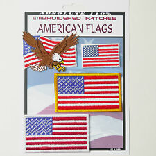 AMERICAN USA FLAG - US Flags Iron-On Patch Super Set #048 - FREE POSTAGE!