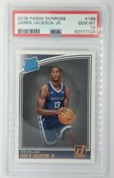 2018-19 Panini Donruss Rated Rookie Jaren Jackson Jr RC #188, Graded PSA 10