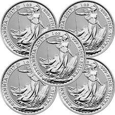 2017 Great Britain Silver Britannia 1oz BU 5pc
