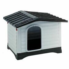 Spacious Dog Kennel Durable Plastic Easy Clean Weather Resistant Quality Vented