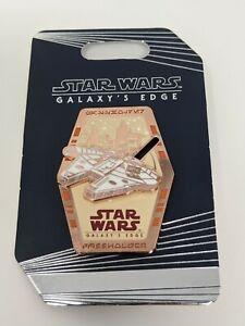 Star Wars Galaxy's Edge Millennium Falcon Slider Passholder Disney Pin