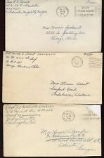 3 US WWII APO COVERS