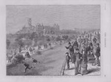 1873 Antique Print SCOTLAND GLASGOW UNIVERSITY BENJAMIN DISRAELI WEST END (201