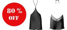 Intimissimi baby-doll SETA ethnic macrame black 100% SILK SEIDE / sizes