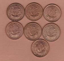 More details for sieven bronze halfpennies 1939 to 1965 in mint condition or very near