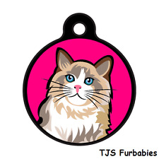 Ragdoll Cat Cute -Custom Personalized Id Tag for Cat & Dog Collars & Harnesses