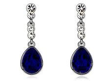 Women Drop Dangle Crystal Pear Shape Teardrop Rhienstones Earrings Jewellery
