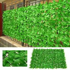 Faux Leaves Artificial Fence Outdoor Garden Greenery Wall Trellis Privacy Screen