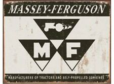 NEW Massey Ferguson Tractor farming implements Logo tin metal sign