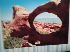 VINTAGE POST CARD DOUBLE O ARCH ARCHES  NATIONAL PARK UTAH