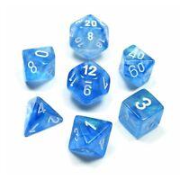 Chessex 7 Set Dice Borealis Sky Blue/White CHX 27426 NEW IN STOCK