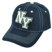 New York City NYC Big Apple Navy Blue Adjustable Curved Bill Baseball Hat Cap