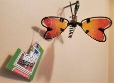 Flower Pot Hugger/Pot Percher- Red/Yellow Insect Butterfly Patio Garden Decor