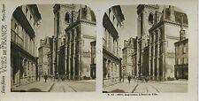 Angoulème L'Hôtel de Ville France Stereo Vintage ca 1905