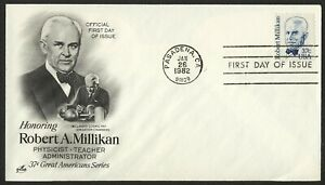 #1866 37c Robert Millikan, Art Craft FDC ANY 5=