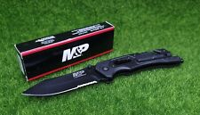 """Smith & Wesson M&P Dual Knife and Multi Tools, Combo 3.5"""" Blade, Black - 1100078"""
