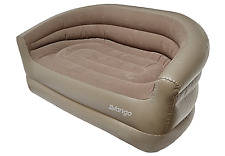 Flocked Inflatable Camping Air Chair Lounge Hangout Seat Sofa Blow Up Lounger