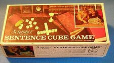 Vintage 1971 Scrabble Sentence Cube Game Selchow & Righter Used Good Shape!