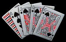 BELT BUCKLE ROYAL FLUSH CARDS POKER LAS VEGAS GAMBLING BOUCLE DE CEINTURE CARTES