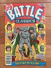 DC Comics BATTLE CLASSICS #1 F/VF; Sgt. Rock by Joe Kubert 1978