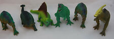 Plastic Dinosaur Action Figures Pre Historic Jurassic Cretaceous Period Lot of 6