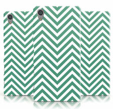 DYEFOR GREEN/WHITE PRINT ZIGZAG PATTERN PHONE CASE COVER FOR SONY XPERIA
