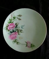 Vintage hand painted Bavaria German porcelain dish Red Roses