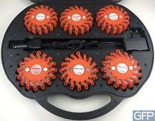 Warnleuchten-Set - 6 LED-Leuchten mit Akku und Ladekabel