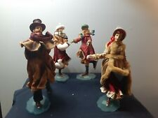 Set of 4 Victorian Dickens Family Skaters, 10-inch Figurines