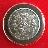 TEXAS COMMEMORATIVE 1 Troy OZ .999 Silver Round - Antique Finish w/ Capsule