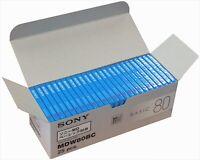 Sony-Recording MD mini disc BASIC 80 minutes 25P set MDW80BC,w/Tracking# JAPAN