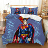 Superman Quilt Doona Duvet Cover Set Single/Double/Queen/King Size Bed Linen