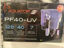 Aquatop Power Filter With Uv 128 Gph 7w Pump 7w Bulb. **Free Shipping**